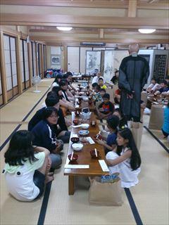 平成25年 郡山市青少年の県外交流 二日目 ~朝食風景~