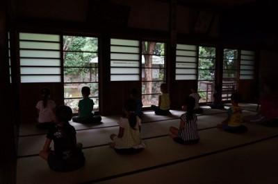 お泊り保育坐禅会 -no.1